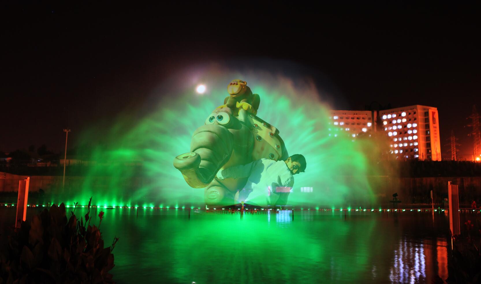 动感摇摆喷泉