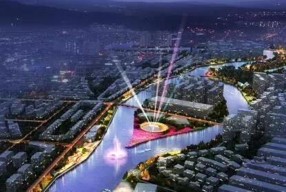 金堂毗河水岸惊现奇观美景,全新3D裸眼水幕舞台