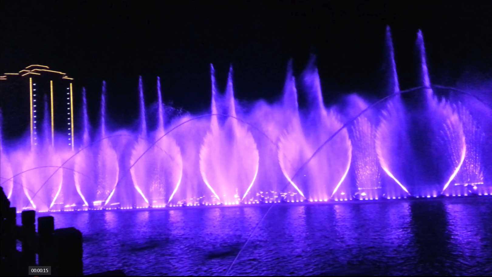 湖南富新公园人工湖音乐水舞beplay体育在线工程